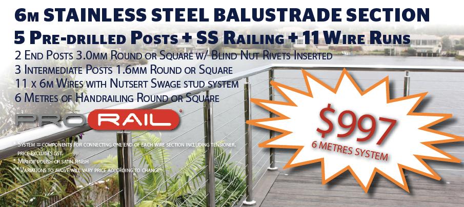 Balustrade Handrail System Special