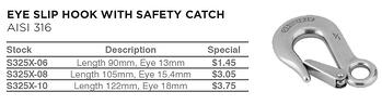 Special-eye-slip-hook-safety-catch