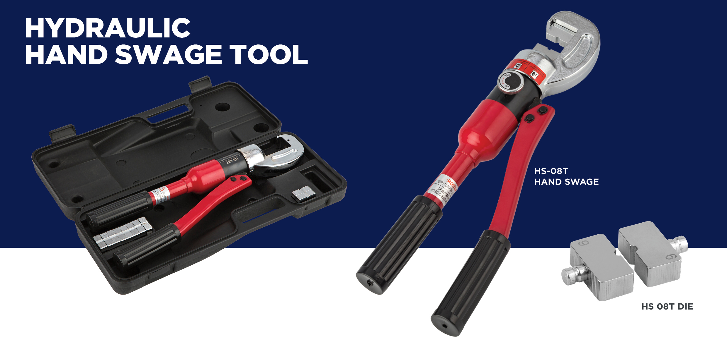 hydraulic hand swage tool for wire balustrade
