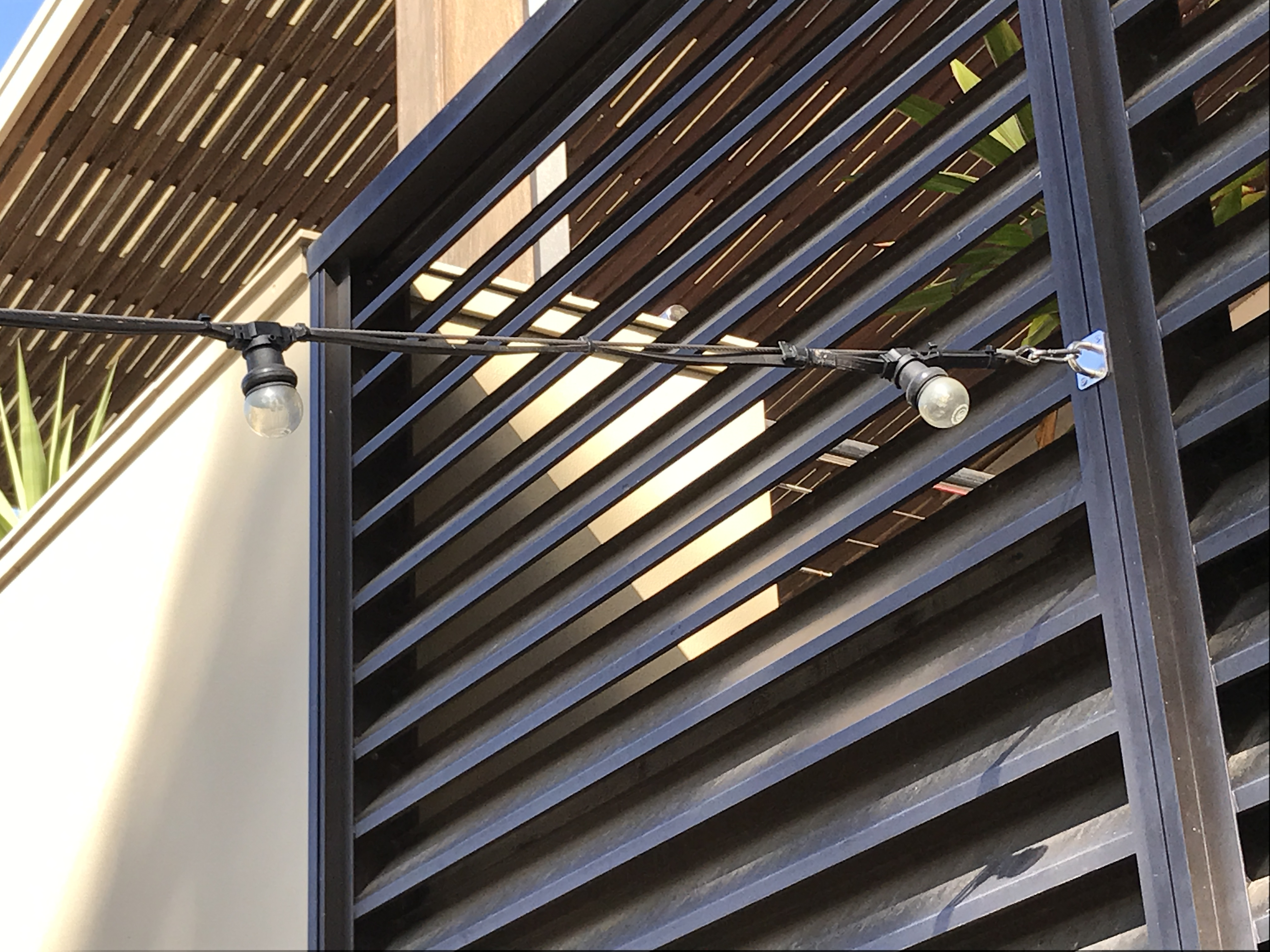 how to install wire outdoor catenary lighting